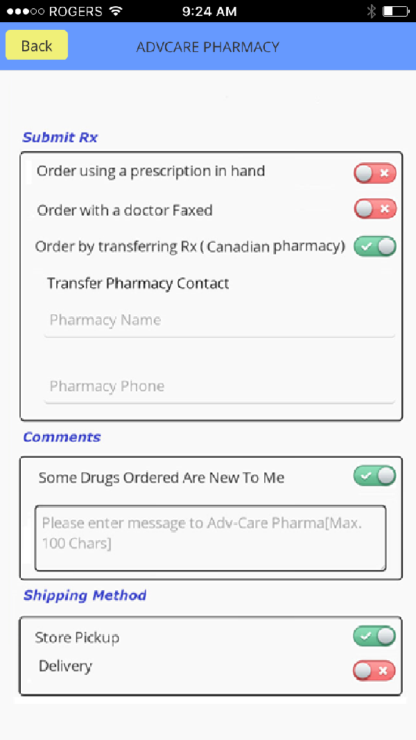 Pharmacy Transfers
